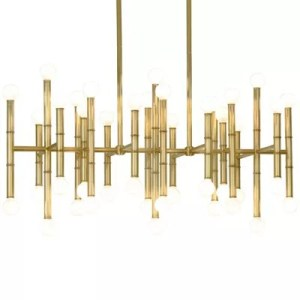 Linear Suspension   Linear  Long   Rectangular Lighting at Lumens com Meurice Rectangular Chandelier