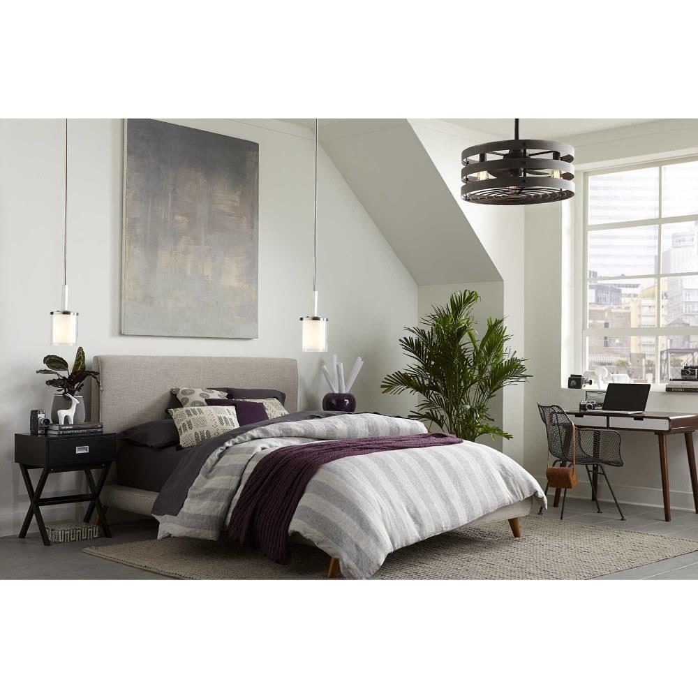 gulliver wide ceiling fan 3 light handheld remote damp rated in modern style 23 5 inches wide by 18 13 inches high