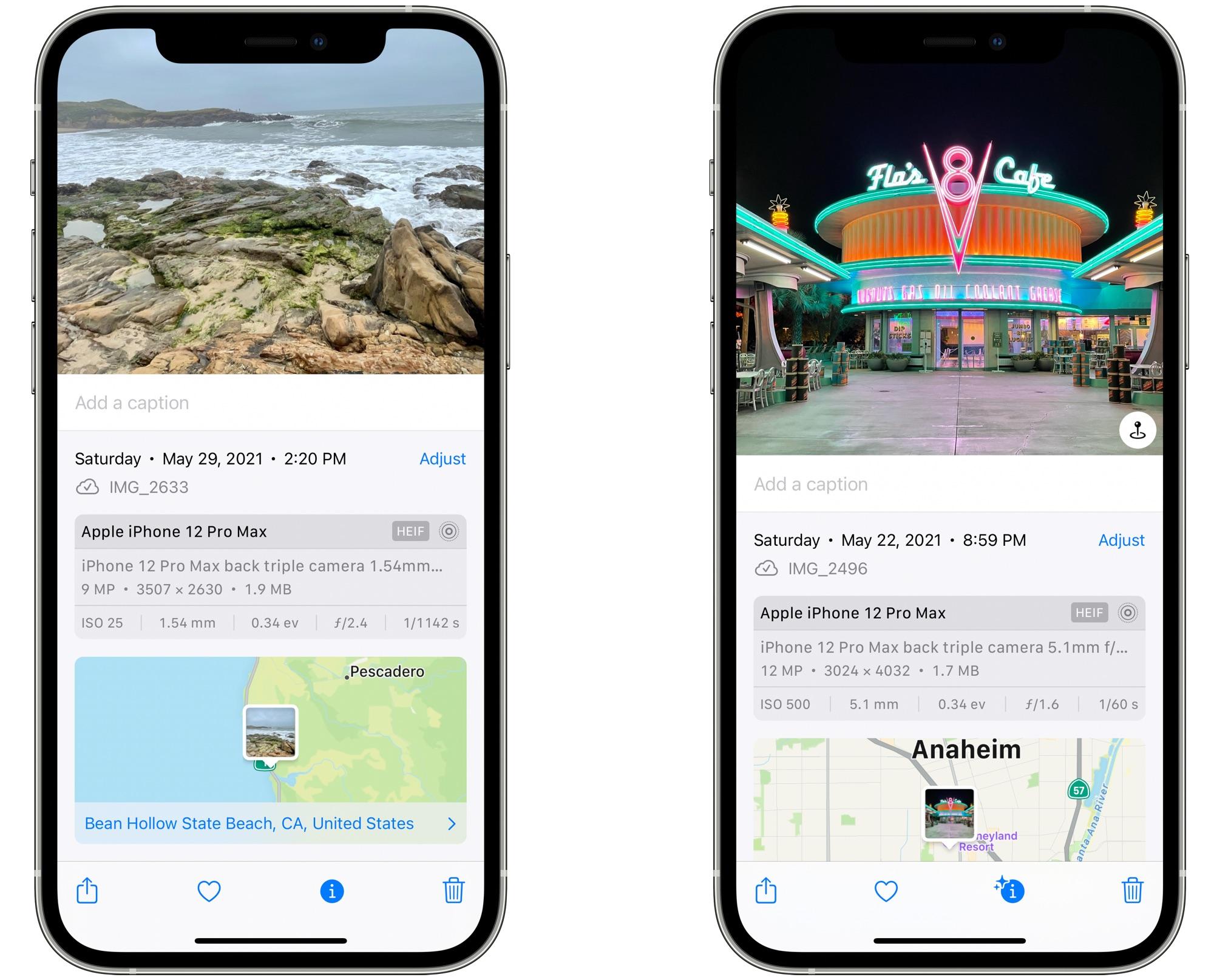iOS 15 Photos App Now Displays EXIF Metadata for Images
