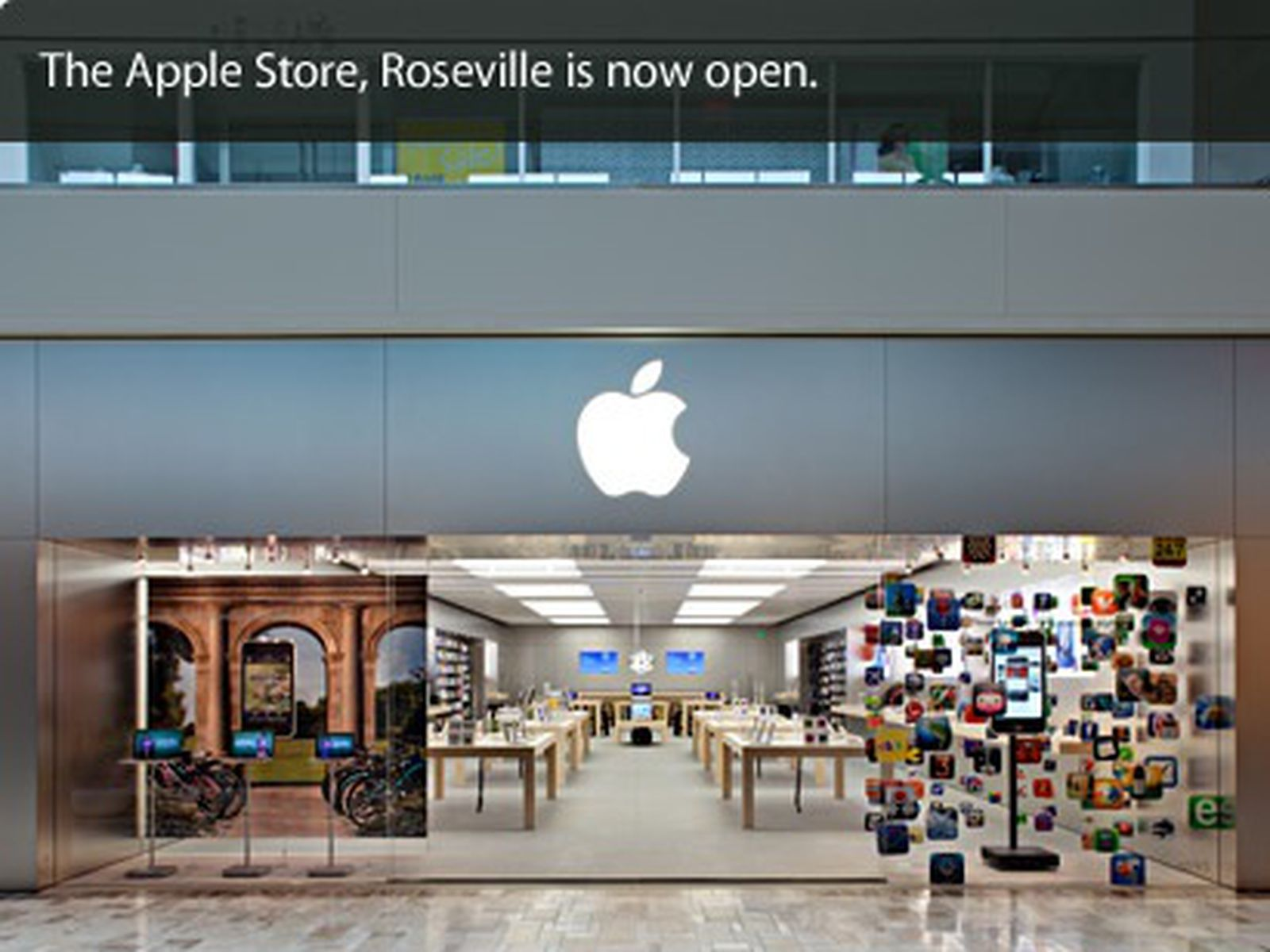 roseville galleria apple store reopens
