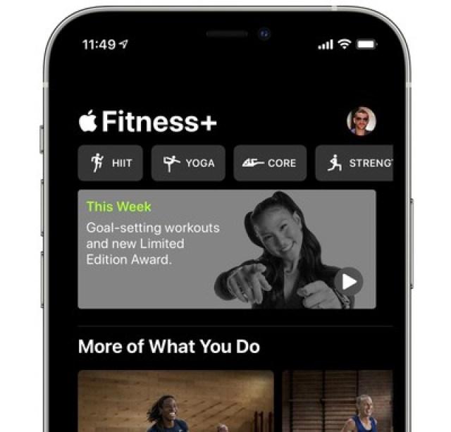 fitness plus weekly series image