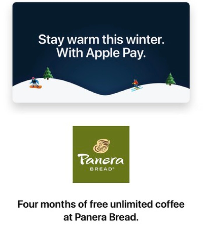 panera bread apple pay promo