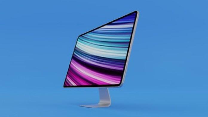 2020 iMac Mockup Feature Blue