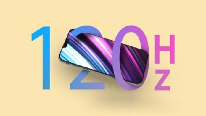 tính năng hình thu nhỏ 120hz của iphone 12