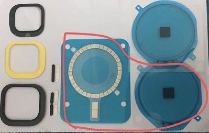 alleged iphone 12 chassis magnets