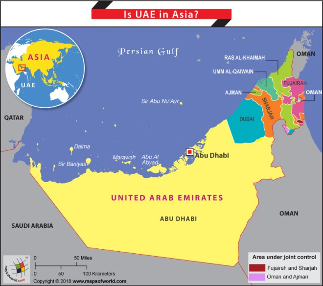Map Of Asia Dubai.Is Uae In Asia Answers
