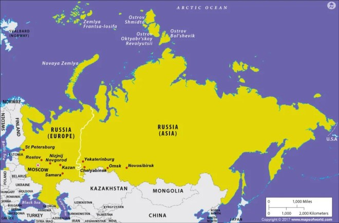Is Russia In Europe Or In Asia Answers
