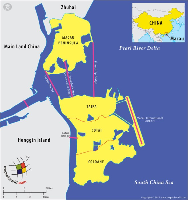 Map of Macao and its Location
