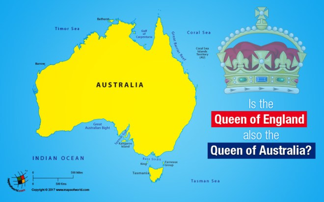 Map From England To Australia.Is The Queen Of England Also The Queen Of Australia Answers