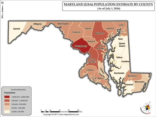 Maryland Population Map
