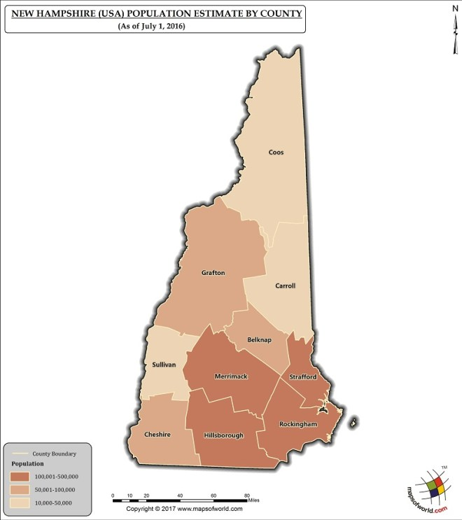 New Hampshire Population Map