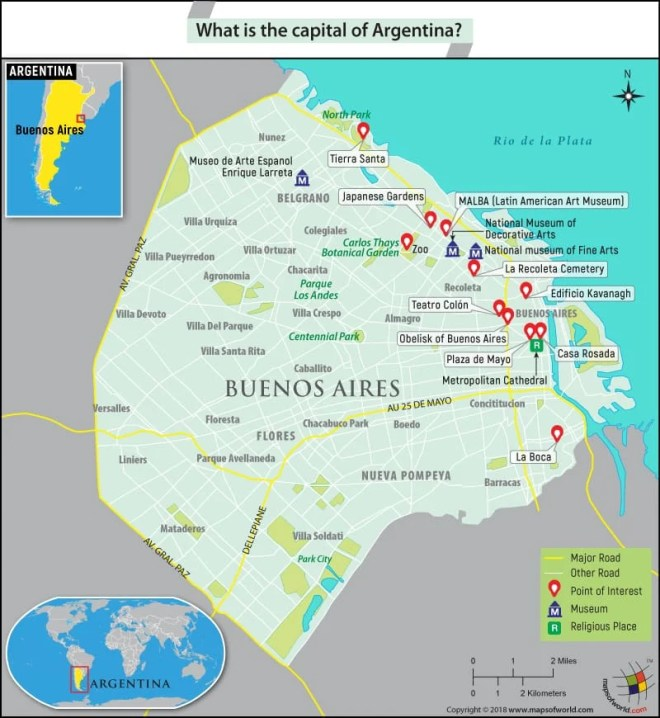 Map Of Buenos Aires Argentina What Is the Capital of Argentina?   Answers