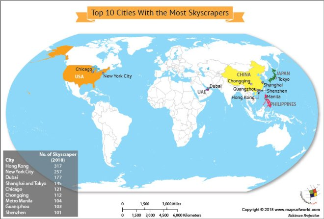What Are The Top Ten Cities With The Most Skyscrapers Answers