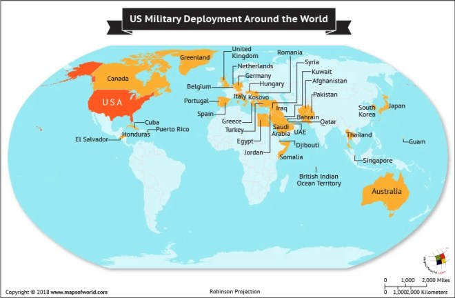 In What Countries Are Us Military Personnel Deployed Answers - Us-military-world-map