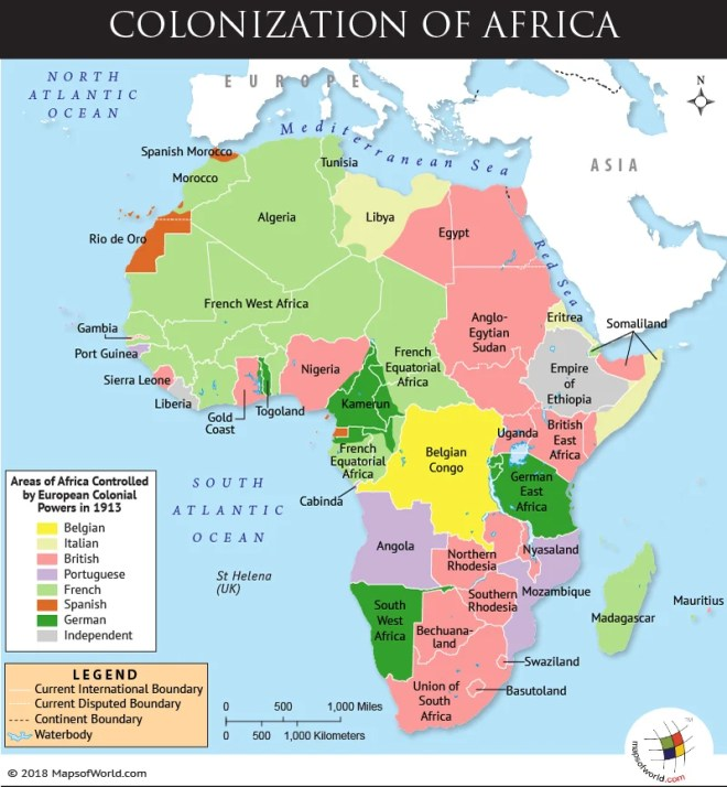 Map depicting Scramble for Africa