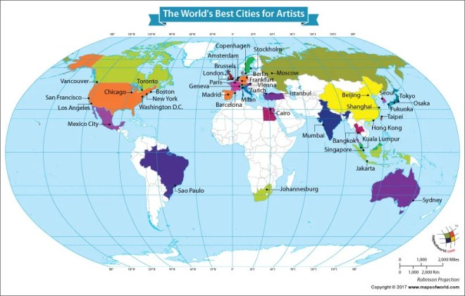 What Are The World S Best Cities For Artists Answers