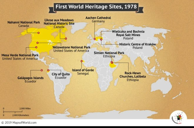 First World Heritage Sites in 1978