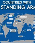 Map Showing 22 Nations of The World Which Have No Standing Armies