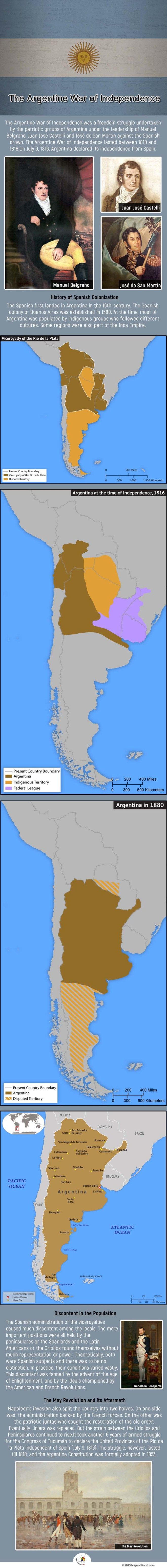he Argentine War of Independence lasted between 1810 and 1818