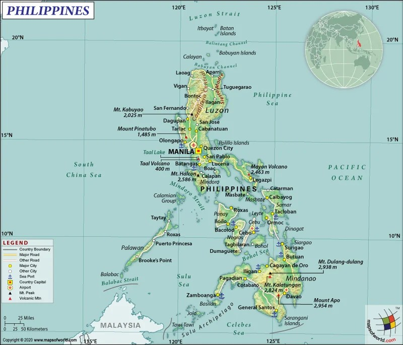 Map of The Republic of the Philippines