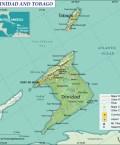 Map of Republic of Trinidad and Tobago