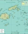 Map of Republic of Fiji