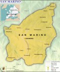 Map of Republic of San Marino