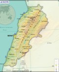 Map of Lebanon