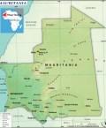 Map of Islamic Republic of Mauritania