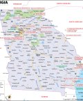Map of Georgia State
