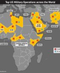 Map Highlighting Top US Military Operations Across The World