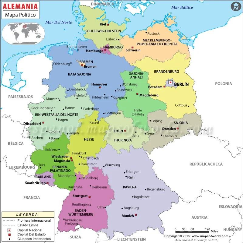 Berlin La Division Alemania De Mapa De
