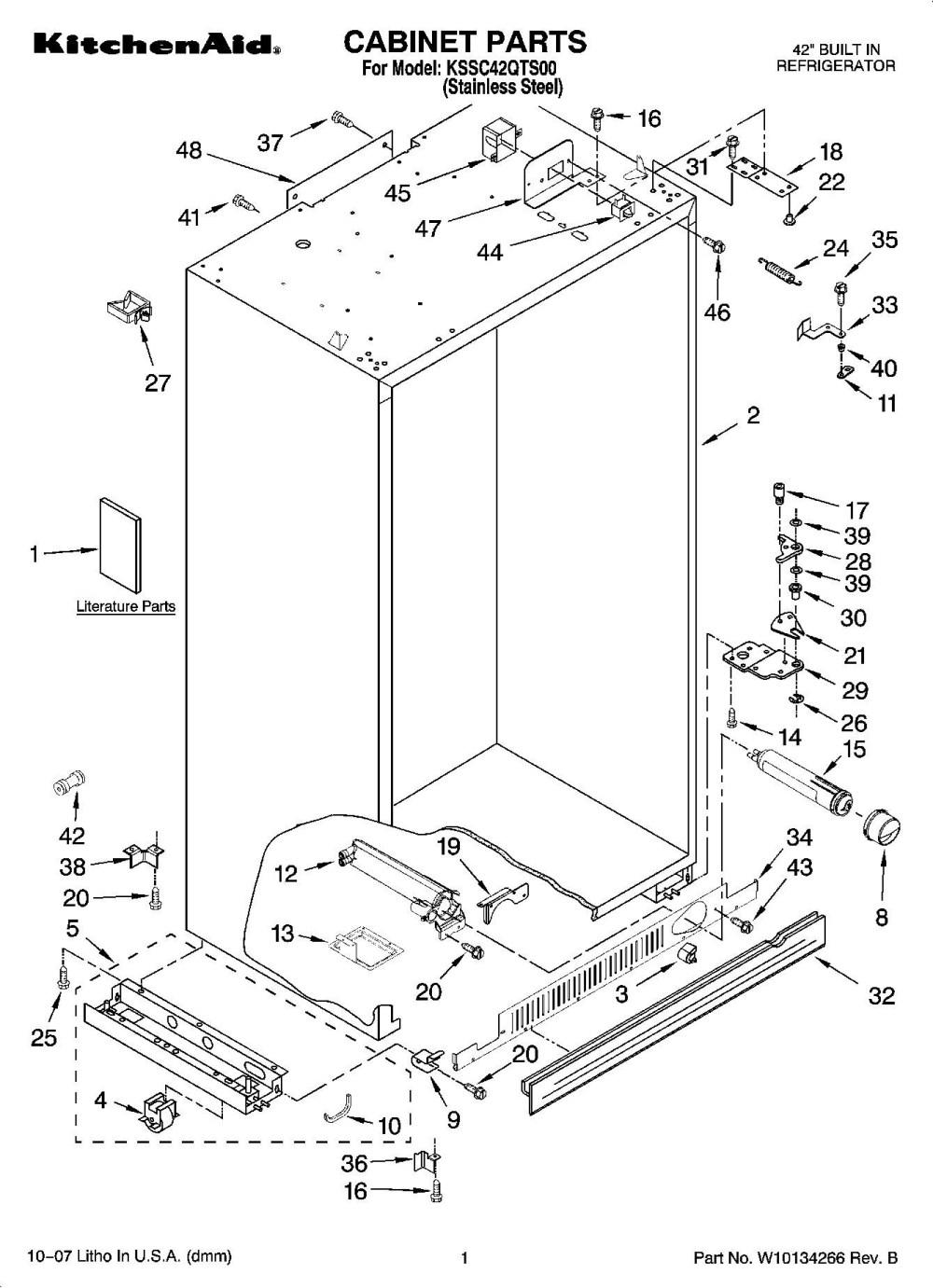 Kitchenaid Refrigerator Parts List   Dandk Organizer