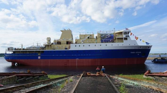 Nevsky Shipyard Launches New Ferry Pavel Leonov