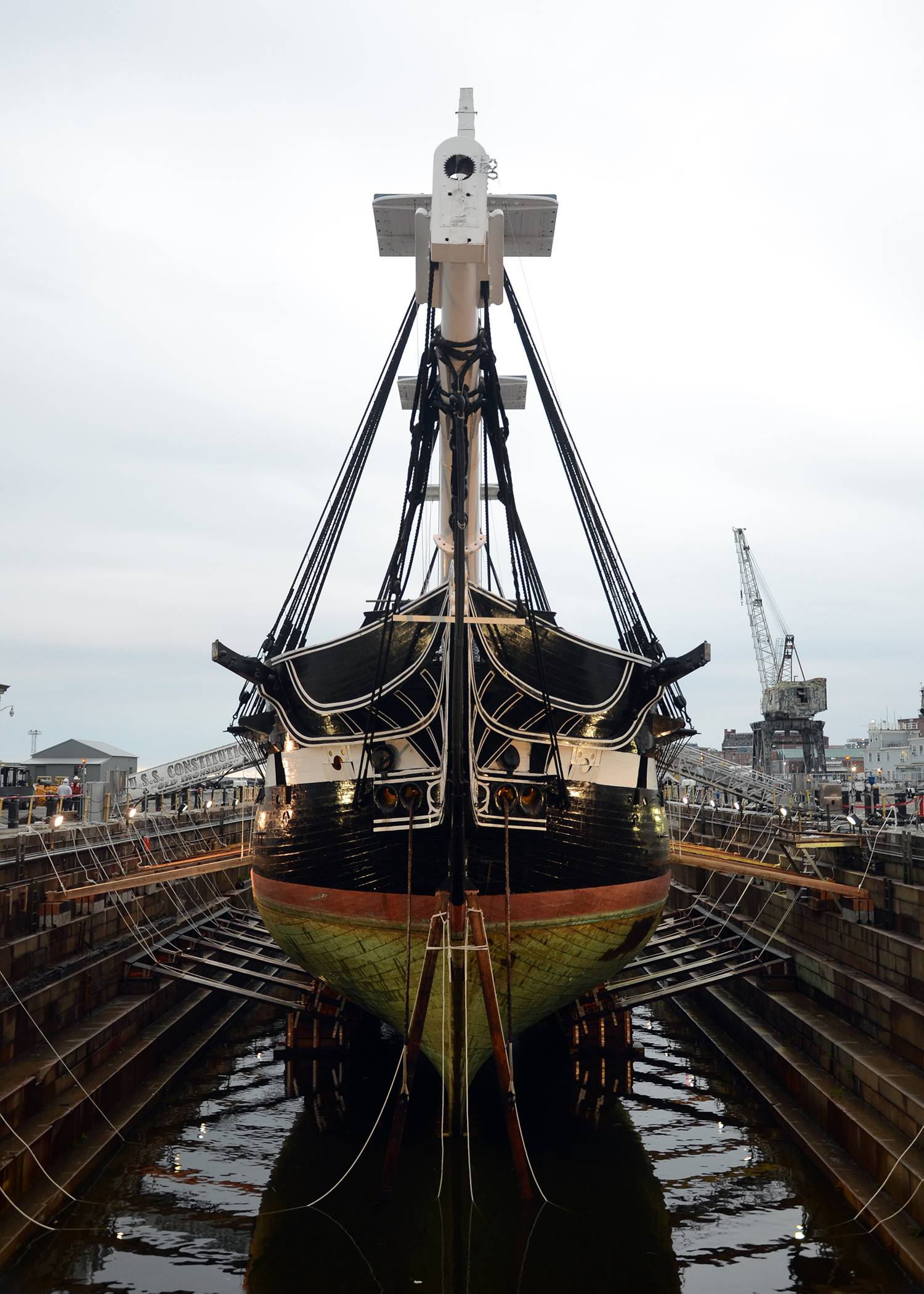 Historic Warship Docked For Restoration