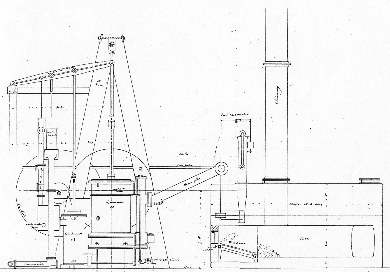 View The Steamboat Frontenac S Engine Drawings Maritime