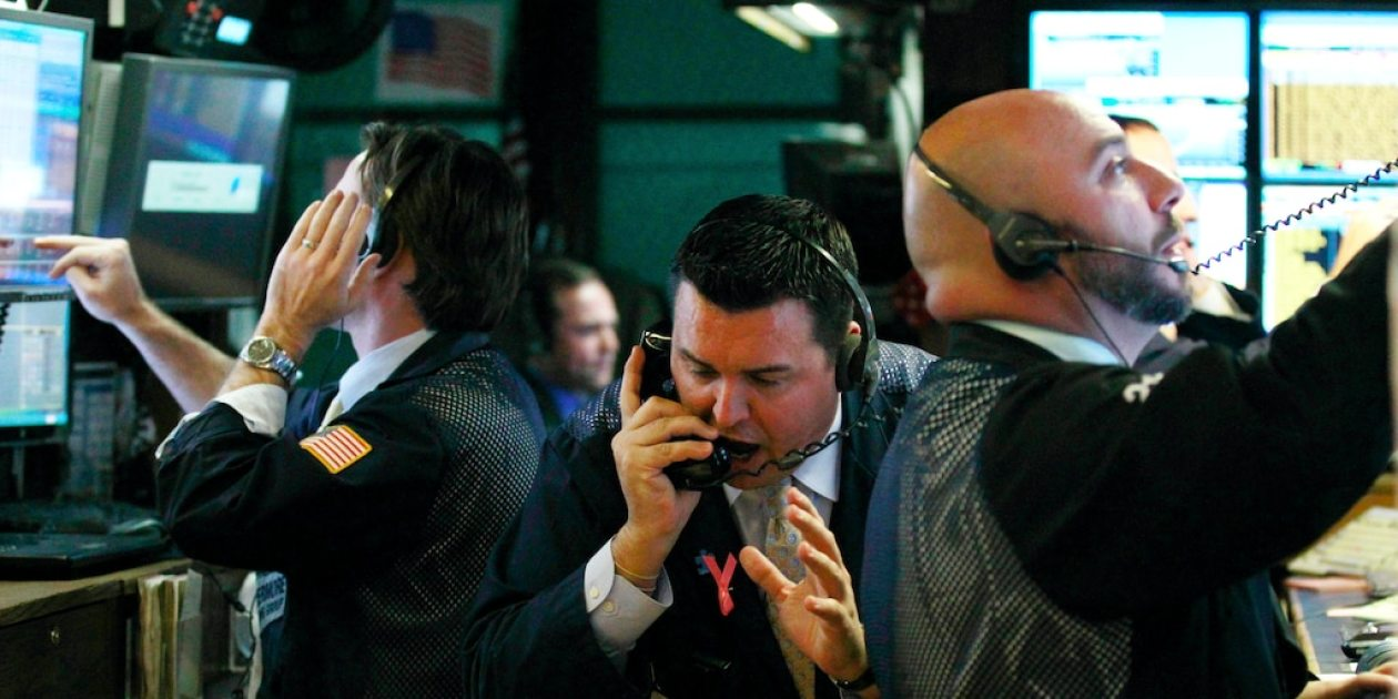 traders phone screens nyse