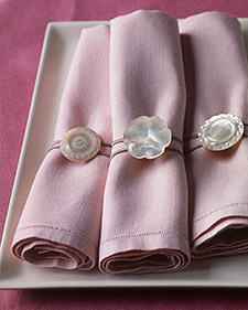 Martha Stewart Button Napkin Rings