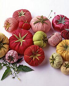 """Homegrown"" Tomato Pincushions"