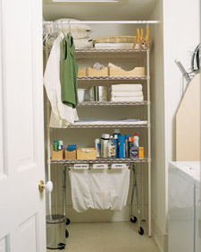 Organized Laundry Wall