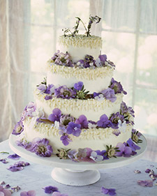 Traditional stacked cake