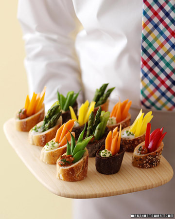 Mini crudite appetizers