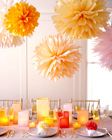 Tissue Paper Pom-Poms How-To