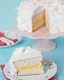 White Layer Lemon Curd Cake