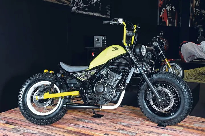 Honda stretches the point with customised 250 Rebel.