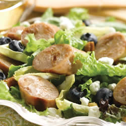 Sweet Apple Chicken Sausage, Endive, & Blueberry Salad with Toasted Pecans Recipe