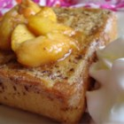Mascarpone Stuffed French Toast with Peaches Recipe