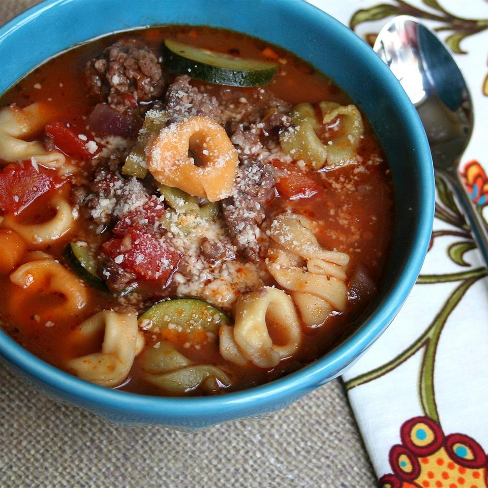 Receita de Sopa de Minestrone de Tortellini