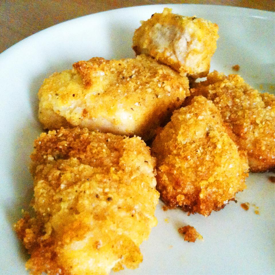 Receita de Frango parmesão frito de forno
