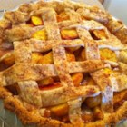 Peach Pie - Old fashioned peach pie using no eggs, my family's favorite.